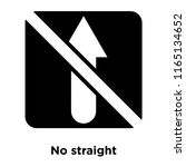 no straight icon vector... | Shutterstock .eps vector #1165134652