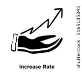 increase rate icon vector... | Shutterstock .eps vector #1165135345