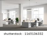 white office corner with gray... | Shutterstock . vector #1165136332