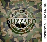blizzard on camouflaged pattern | Shutterstock .eps vector #1165137208