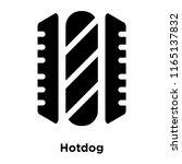 hotdog icon vector isolated on... | Shutterstock .eps vector #1165137832