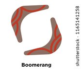boomerang icon vector isolated... | Shutterstock .eps vector #1165141258
