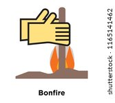 bonfire icon vector isolated on ... | Shutterstock .eps vector #1165141462