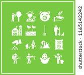 16 farm vector icon set with...   Shutterstock .eps vector #1165142242