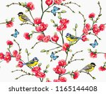 beautiful seamless vector... | Shutterstock .eps vector #1165144408