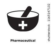 pharmaceutical icon vector... | Shutterstock .eps vector #1165147132