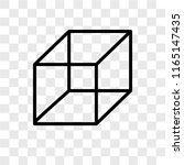 cube vector icon isolated on... | Shutterstock .eps vector #1165147435