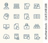 e learning line icons | Shutterstock .eps vector #1165148188