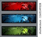 halloween colorful banners... | Shutterstock .eps vector #1165149328