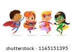 multiracial boys and girls ... | Shutterstock .eps vector #1165151395