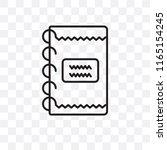 scrapbook vector icon isolated... | Shutterstock .eps vector #1165154245