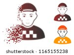 taxi driver icon with face in... | Shutterstock .eps vector #1165155238
