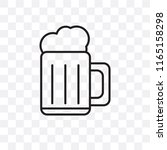 beer vector icon isolated on... | Shutterstock .eps vector #1165158298