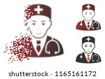 physician icon with face in... | Shutterstock .eps vector #1165161172