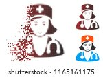 physician lady icon with face... | Shutterstock .eps vector #1165161175