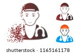 physician doctor icon with face ... | Shutterstock .eps vector #1165161178