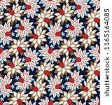 all over stock vector flowers... | Shutterstock .eps vector #1165164085