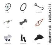 bike component icons set.... | Shutterstock .eps vector #1165166245