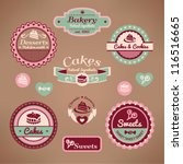 set 2 of vintage styled various ... | Shutterstock .eps vector #116516665