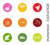 tourist destination icons set.... | Shutterstock .eps vector #1165167628