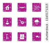adhesive icons set. grunge set... | Shutterstock .eps vector #1165171315