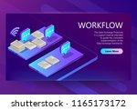 vector 3d isometric site... | Shutterstock .eps vector #1165173172