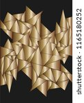 metallic chaotically located... | Shutterstock .eps vector #1165180252