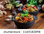 ratatouille  delicious... | Shutterstock . vector #1165182898