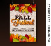 autumn party flyer illustration ... | Shutterstock .eps vector #1165188622