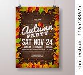 autumn party flyer illustration ... | Shutterstock .eps vector #1165188625