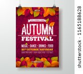 autumn party flyer illustration ... | Shutterstock .eps vector #1165188628