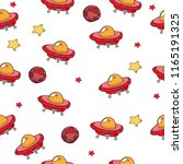space ships  flying saucers ...   Shutterstock .eps vector #1165191325