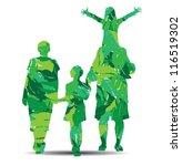 vector illustration of family... | Shutterstock .eps vector #116519302