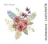 watercolor art with fresh...   Shutterstock . vector #1165196578