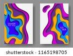 vector paper cut layouts design ... | Shutterstock .eps vector #1165198705