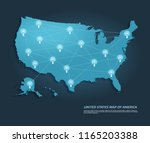 united states map with... | Shutterstock .eps vector #1165203388