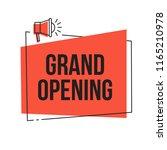 grand opening vector red banner ... | Shutterstock .eps vector #1165210978