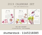 january  february  march... | Shutterstock .eps vector #1165218385