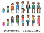 black people in different ages  ... | Shutterstock .eps vector #1165222252