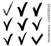 collection of black check marks ... | Shutterstock . vector #1165228165