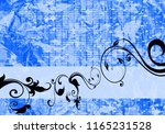 floral background design | Shutterstock . vector #1165231528