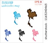 thailand watercolor country map.... | Shutterstock .eps vector #1165240465