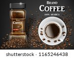 black instant coffee cup top... | Shutterstock .eps vector #1165246438