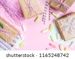 boxes with gifts in festive... | Shutterstock . vector #1165248742