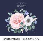 vector vintage floral... | Shutterstock .eps vector #1165248772
