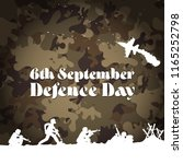 6th september. happy defence... | Shutterstock .eps vector #1165252798