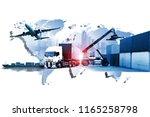 world transportation business | Shutterstock . vector #1165258798