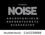 tv static noise effect font... | Shutterstock .eps vector #1165258888