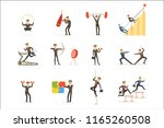businessman working out in gym  ... | Shutterstock .eps vector #1165260508