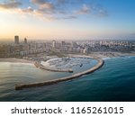 Coast of the Mediterranean Sea in the city of Ashdod, Israel